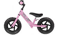 Детский велосипед без педалей. Велобег MARS 12 розовый
