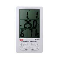 Термометр гигрометр с часами KT903, измерительный метеоприбор