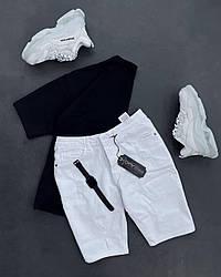 Класичні чоловічі шорти (бежеві) бавовняні літні ѕ070б