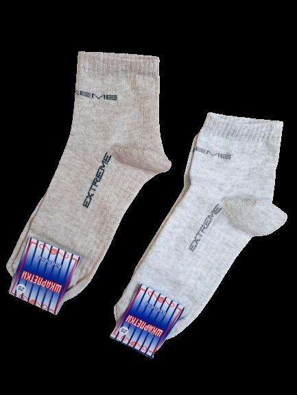 Шкарпетки чоловічі спорт укорочені р. 25 бавовна стрейч Україна. Від 10 пар по 7грн.
