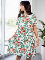 Модное белое платье мини 42-44, 44-46, 46-48