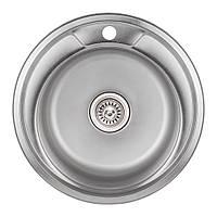 Кухонная мойка Lidz 490-A Satin 0,8 мм (LIDZ490ASAT)