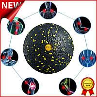 Массажный мяч 4FIZJO Epp Ball 12 4FJ0057 Black-Yellow для миофасциального массажа, спины и триггерных точек