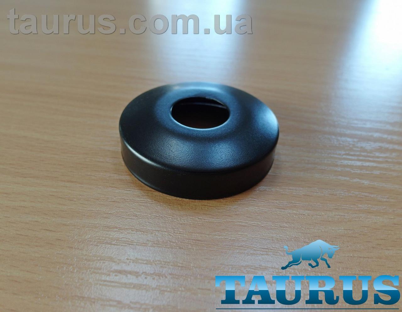 """Чёрный сферический декоративный фланец D60 / высота 15 мм Black, внутренний размер 1/2"""" (d20 мм) ThermoPulse"""