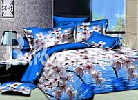 """Комплект постельного белья семейный, п/э 3D """"Яблони над водой"""""""