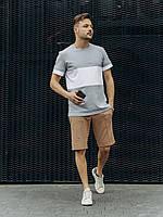 Комплект Футболка + Шорты | Спортивный костюм мужской летний / Шорты футболка темно-серого цвета