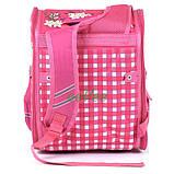 Шкільний рюкзак для дівчинки ортопедичний каркасний ранець 1 2 3 клас Рожевий (77100), фото 2