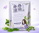 Маска для обличчя Bioaqua з екстрактом сої Natural Extract Natto Moisturizing Mask, 30г, фото 2