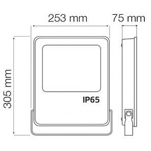 Прожектор світлодіодний LEOPAR-100 100W 6400К, фото 2