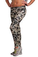 Компрессионные женские лосины для фитнеса Berserk Sport камуфляжный