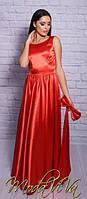 Платье женское атласное с бантом