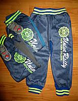 Спортивные трикотажные брюки на мальчика с начесом  98pp.