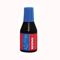 Краска штемпельная KORES 28 мл, синяя K71308