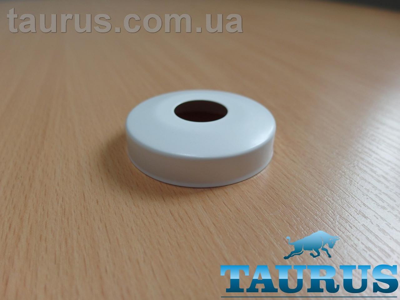 """Білий сферичний декоративний фланець D60 / висота 15 мм White, внутрішній розмір 1/2"""" (d20 мм) ThermoPulse"""