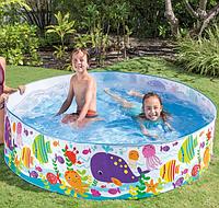 Детский каркасный бассейн Intex «Океанский риф», 183-38 см, 977 л, Каркасный бассейн для всей семьи