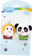 "М'яке брязкальце для малюків ""Мавпочка і панда"" F 1005"