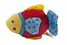 М'яке брязкальце Рибка з блакитним хвостом (65099G-3), Goki