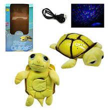 """Ночник детский на батарейках и USB кабель """"Мягкая Черепаха"""" ML88-6, Детские светильники, ночники"""