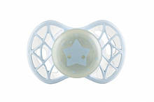 Детская пустышка ночная ортодонтическая силиконовая (светится в темноте), Air55 Cool 0m+, Nuvita