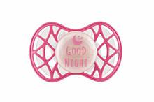 Детская пустышка розовая, светящаяся в темноте, ортодонтическая от 6 мес, Nuvita