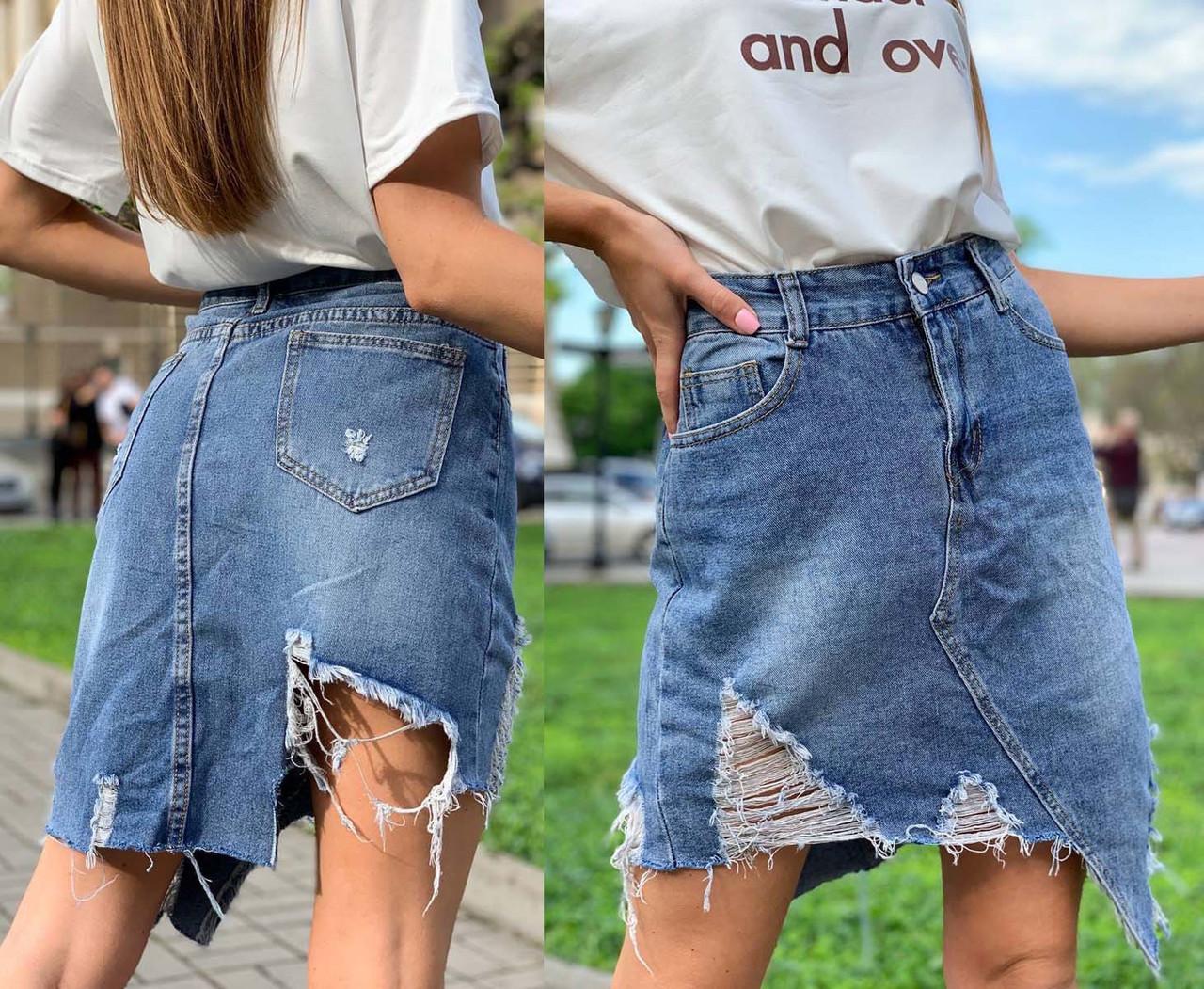 """Жіноча коротка джинсова спідниця """"9981"""""""