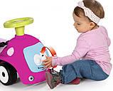 Машинка толокар для дівчинки з батьківською ручкою, Маестро 4 в 1, зі звуком, Smoby, фото 5