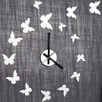 """Декоративная виниловая наклейка NL24, Часы-наклейка """"бабочки"""" 1*AА батарея( в комплект не входит), Feron"""