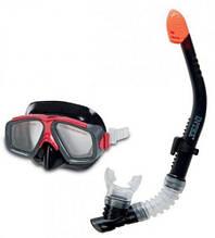 Маска для плавания под водой детская с трубкой, от 8 лет, Intex