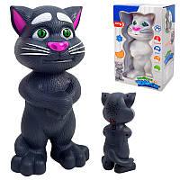 """Інтерактивна іграшка """"Котик Том"""" 20 см, звук, англ., повтор, на бат. 838-17-18"""