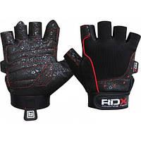 Женские перчатки для фитнеса без пальцев, нейлон RDX черный