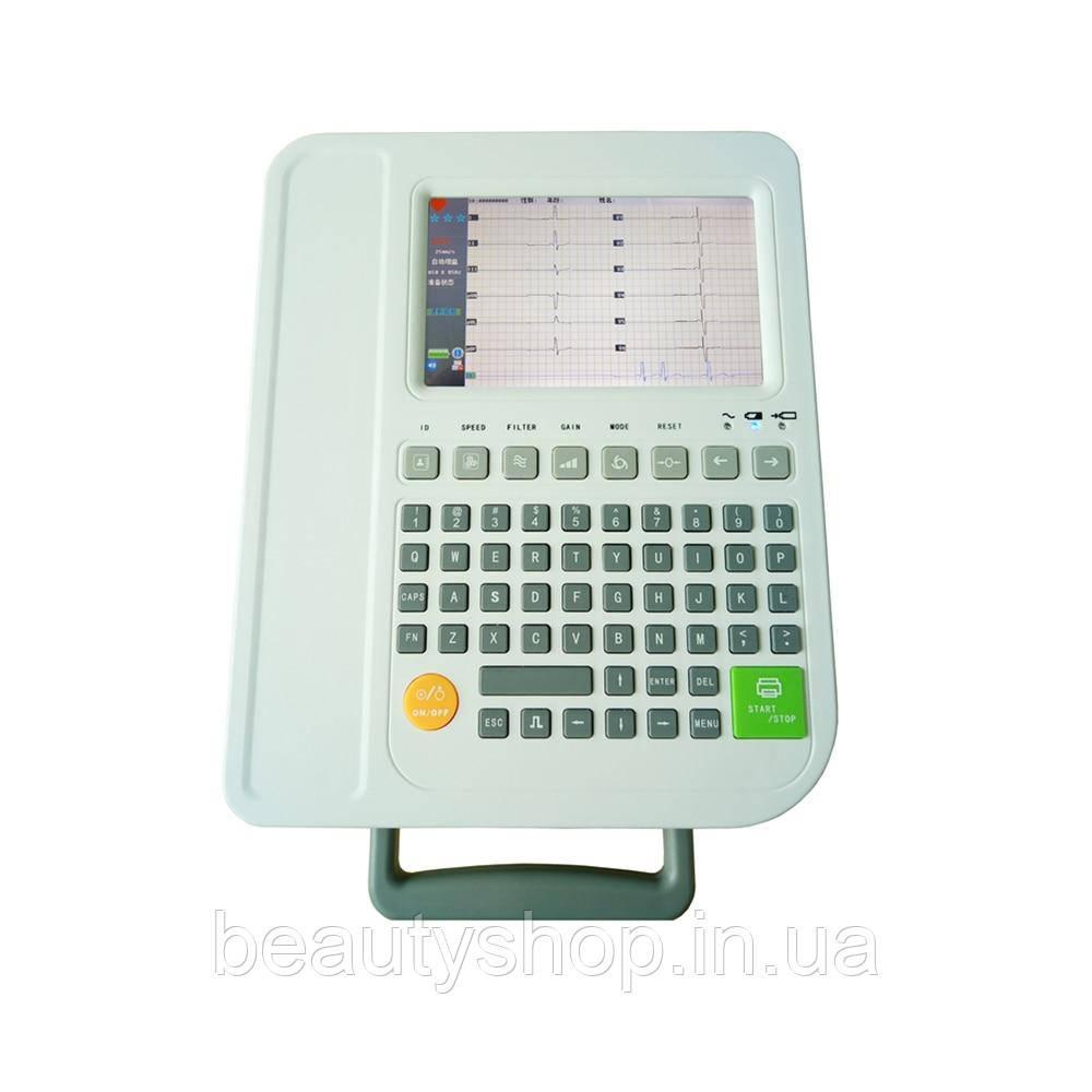 Полноценная клавиатура 12 каналы ecg машина 7in ЖК 12 ЭКГ машина