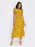 Плаття-міді в квітковому принте з вирізом по спинці ЛІТО, фото 5