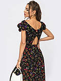 Плаття-міді в квітковому принте з вирізом по спинці ЛІТО, фото 2