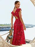 Плаття-міді в квітковому принте з вирізом по спинці ЛІТО, фото 4
