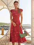 Плаття-міді в квітковому принте з вирізом по спинці ЛІТО, фото 3