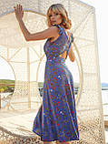 Плаття-міді в квітковому принте з вирізом по спинці ЛІТО, фото 7