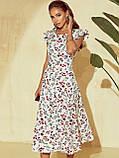 Плаття-міді в квітковому принте з вирізом по спинці ЛІТО, фото 9