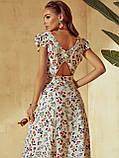 Плаття-міді в квітковому принте з вирізом по спинці ЛІТО, фото 10