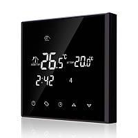 Програмований Терморегулятор сенсорний тижневий Ecoset TGT70 (BLACK) 16А з датчиком температури підлоги 3м