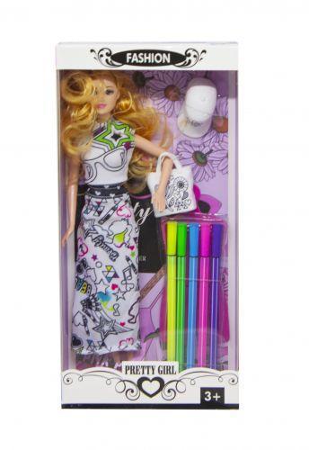 Детская Кукла-раскраска 587A/C