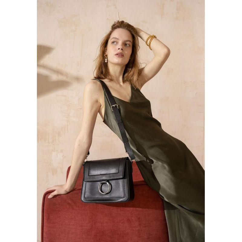 Жіноча шкіряна сумка Jessie чорна