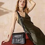 Жіноча шкіряна сумка Jessie чорна, фото 6