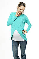 Топ с запáхом для беременных и кормящих - Ментол C удобным реглан секретом, для доступа к груди, фото 1