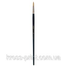 Кисть синтетика, Ocean 6974, круглая 6, длинная ручка, ART Line
