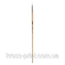 Кисть синтетика, Creamy 6973, круглая, № 8, длинная ручка, ART Line