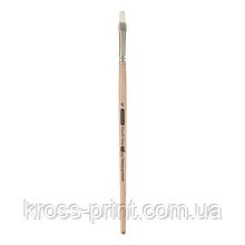 Кисть синтетика, Creamy 6972, плоская 6, короткая ручка, ART Line