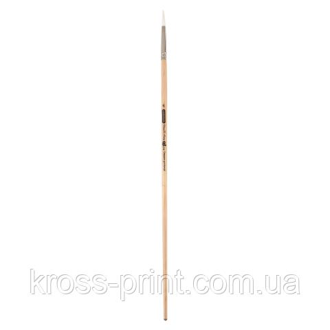 Кисть синтетика, Creamy 6973, круглая, № 6, длинная ручка, ART Line