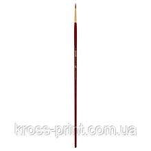 Кисть синтетика, Cherry 6971, круглая,№ 4, длинная ручка, ART Line