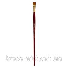Кисть синтетика, Cherry 6971, плоская, № 12, длинная ручка, ART Line