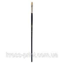 Кисть синтетика, Ocean 6974, овальная,№ 4, длинная ручка, ART Line